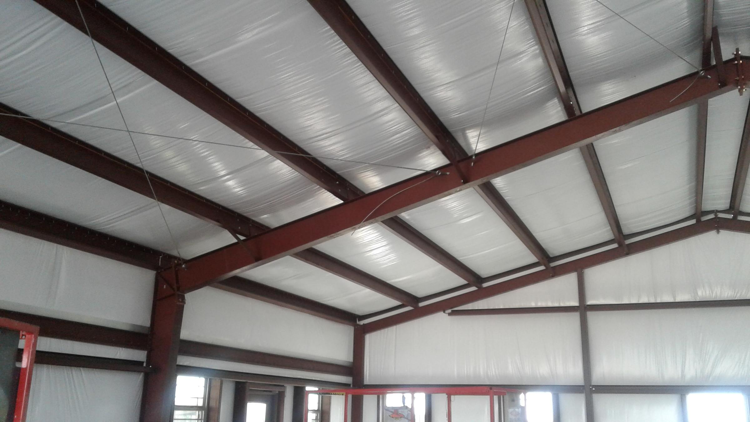 Metal barndominium insulation