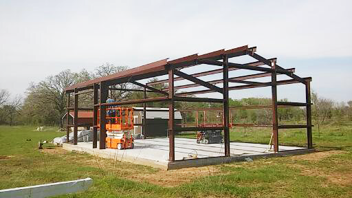 The framing is almost finished.