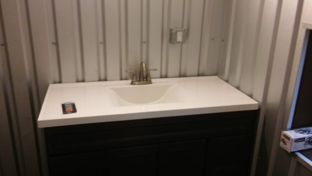 The vanity for the bathroom.