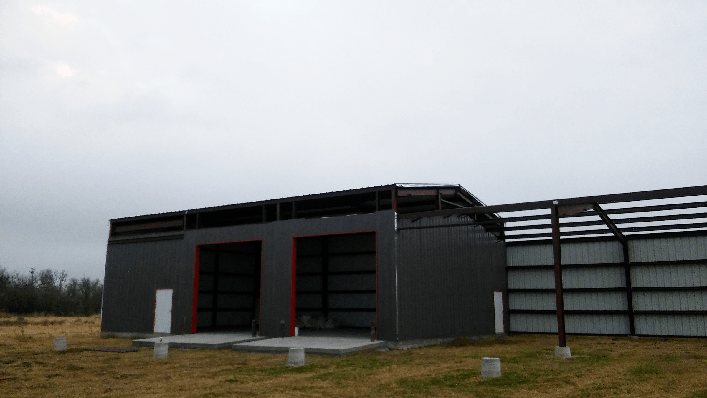 Almost ready to put the overhang on the front of the building.