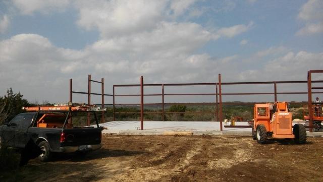 Metal Building Barndominium and Garage Framing