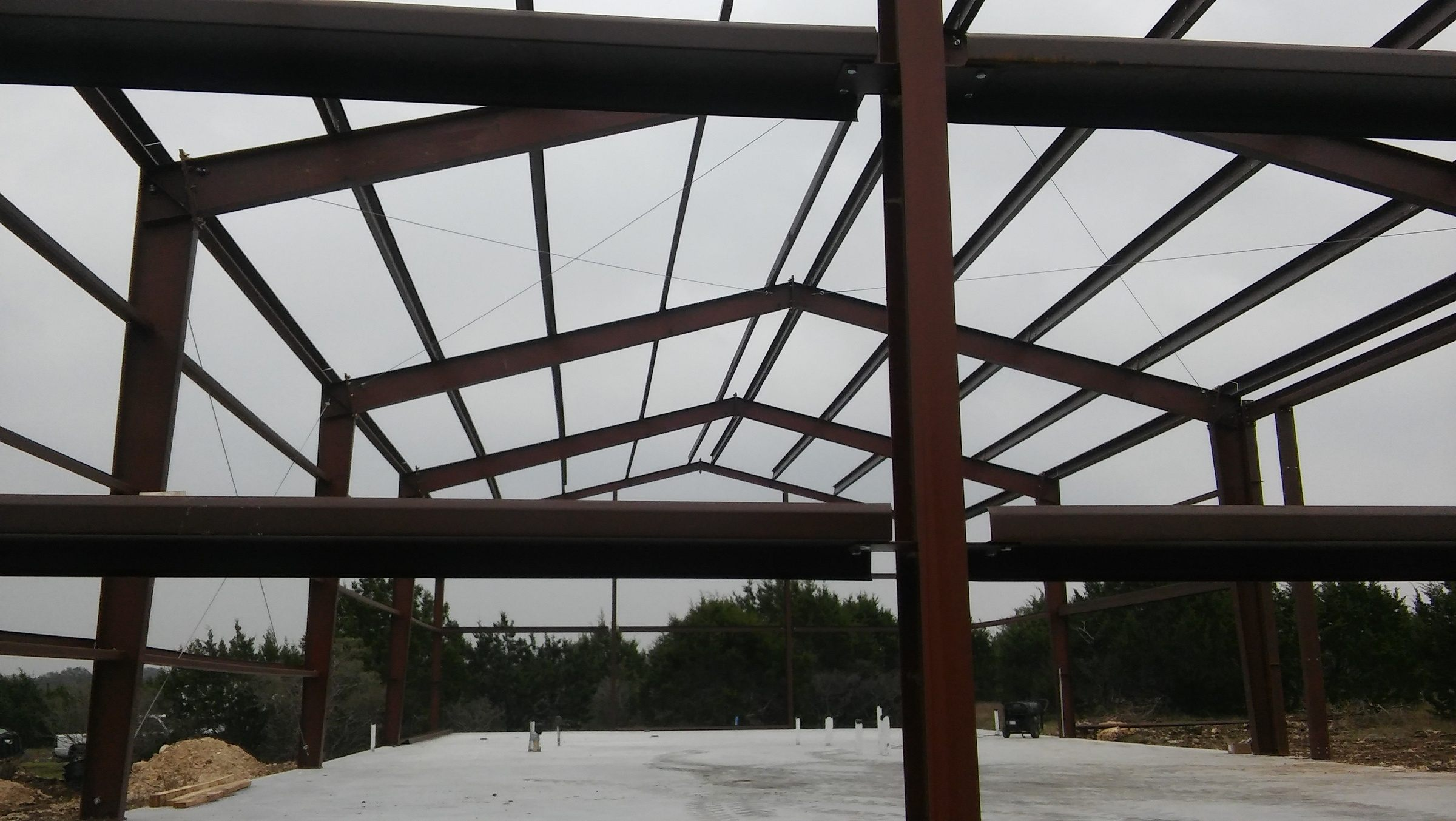 Barndominium and Garage frame, another view.