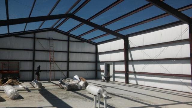 Barndominium and Garage insulation going up.