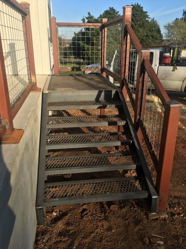 steel stairs, custom colors